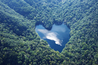 豊似湖 空撮 26120042032  写真素材・ストックフォト・画像・イラスト素材 アマナイメージズ