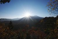 御嶽山の日没