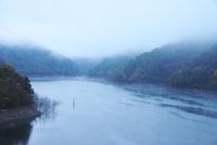 徳山湖の朝 26120042247| 写真素材・ストックフォト・画像・イラスト素材|アマナイメージズ