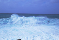 台風8号の前日の波