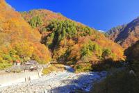 紅葉の祖母谷温泉
