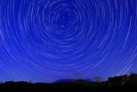 富士山と星の日周運動