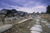 古代の石畳の道