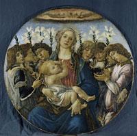 Maria mit dem Kind und singenden Engeln