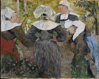 Bretonische Bauerinnen/4人のブルターニュの女の踊り