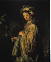 Saskia als Flora/フローラに扮したサスキア 26129000283| 写真素材・ストックフォト・画像・イラスト素材|アマナイメージズ
