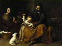 Die Heilige Familie mit dem Vogel/小鳥のいる聖家族