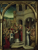 Ursulas Ankunft in Rom./聖女ウルスラ伝の聖遺物箱(一部) 26129000329| 写真素材・ストックフォト・画像・イラスト素材|アマナイメージズ