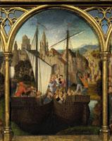 Ursulas Ankunft in Basel./聖女ウルスラ伝の聖遺物箱(一部)