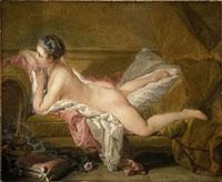 Ruhendes MAdchen/ソファーに横たわる裸婦