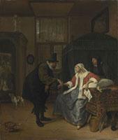 Der Arztliche Besuch (Die Liebeskranke)/恋煩い(病気の婦人) 26129000402| 写真素材・ストックフォト・画像・イラスト素材|アマナイメージズ