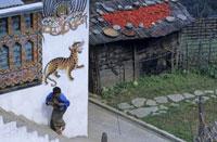壁画のある農家