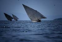 ヴィクトリア湖の帆船