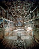 Frescoes of the vault, Sistine Chapel, Vatican City(before r