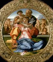 聖家族と幼児聖ヨハネ(トンド・ドーニ)