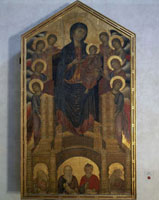 Painting On Panel,With Gold Ground,By Cimabue,Of The Virg