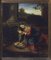 Adoration of the Child/幼児キリストを礼拝する聖母