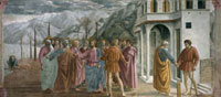 The Tribute Money,fresco by Masaccio,part of a pictorial c