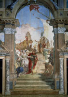 Famous fresco by G.B. Tiepolo depicting 'The embarkation of