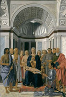 Painting by Piero della Francesca of the 'Madonna and Child