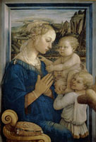 Madonna with the Child and angels.