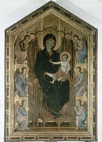 """Madonna and Child entrhoned with six angels"",known as """