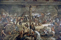 """Crucifixion"" painting for the Sala dell'Albergo in the"