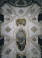 Ornamentation of the ceiling of the Church of the Jesuits in