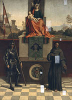 Painting of the Madonna and Child Enthroned with Saints Fran