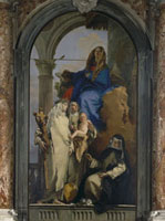 The Virgin Mary with Saint Catherine of Siena,Saint Rosa of