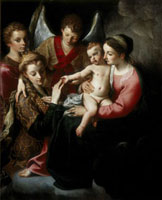 Mystical marriage of Saint Catherine of Alexandria
