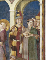 St. Martin receives the knightly investiture (detail),Scene