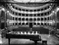 Interior of the Teatro Metastasio in Prato