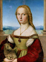 "Portrait of Maddalena Strozzi known as ""Lady with Unicorn"""