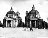 The twin churches of S. Maria dei Miracoli and S. Maria di M 26144000459| 写真素材・ストックフォト・画像・イラスト素材|アマナイメージズ