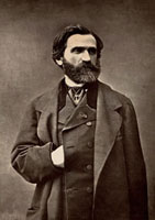Portrait of the composer Giuseppe Verdi