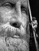 The statue of Garibaldi in Rome