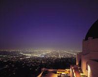 グリフィス天文台より市街地の夜景眺望
