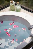 バスルームと花びら 30003001322| 写真素材・ストックフォト・画像・イラスト素材|アマナイメージズ