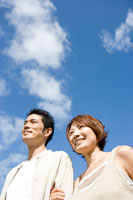 空と日本人男女