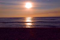 サイパンの海に沈む夕日