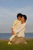 お母さんと男の子