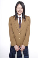 制服姿の日本人の女子高生