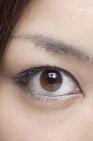 20代日本人女性の目元