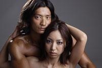 20代日本人女性と男性のビューティーイメージ 30018001435A| 写真素材・ストックフォト・画像・イラスト素材|アマナイメージズ