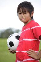 サッカーボールを持つ男の子