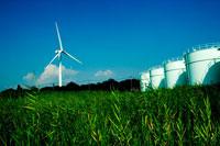 風力発電所がある風景