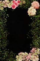 花で作ったフレーム