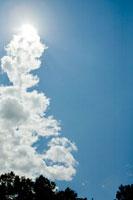 雲からでてくる太陽