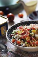 カラフル野菜と海老のクスクスサラダ